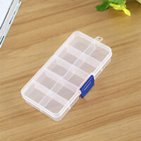 3pcs 10 Compartment Small Beads Pills Tablets Organizer Plastic Storage Box WH1