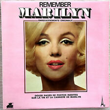 MARILYN MONROE REMEMBER MARILYN FRENCH LP WITH 12 PAGES PHOTOS STEC159