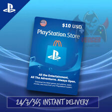 Playstation Network Card PSN $10 USD Instant Email Delivery 24/7/365 USA