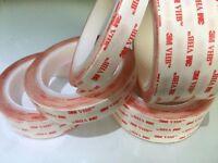 3M VHB 12mm x 3m Clear Double-Sided Tape Acrylic Foam Heavy Duty High Quality UK