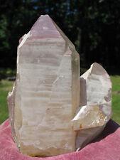 Natural Lithium Quartz Cluster w Record Keeper Crystal & Phantom