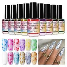NICOLE DIARY 15ml Watercolor Ink Nail Polish Blossom Gel Marble Liquid Gradient