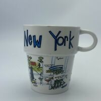 World Market New York  City Stacking Coffee Mug Tea Cup Landmarks Cityscapes