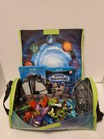 Lot Skylanders Spyro's Adventure Carrying Case Bag, Figures, 2 Portals Of Power