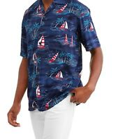 Nautical Hawaiian Shirt Patriotic Americana L XL 2X 3X 4X 5XL Sailing Sailboats