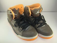 Men's Nike Air Jordan Olive Khaki Orange High Tops Sneakers Shoes 11 #538698-207