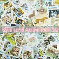 World Thematic Wild Animals Birds Fish 20 pcs Off Paper Stamps Collection Lot