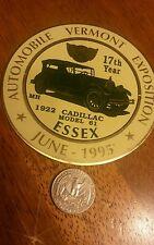 1922 CADILLAC VERMONT AREA  CAR AUTO SHOW BADGE TOPPER EMBLEM LICENSE PLATE
