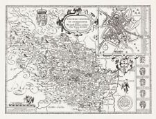 Yorkshire Antique Europe County Maps