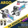 H4 Xenon White 100w Dipped Low Beam Headlight Headlamp 501 Sidelight Bulbs X 2