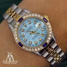 Rolex 26mm Datejust Watch Jubilee Ice Blue Dial with Sapphire & Diamond Bezel