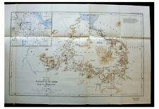 1928 Cheesman - BLUE NILE - Abyssinia - COLOR ROUTE MAP - Ethiopia - 4