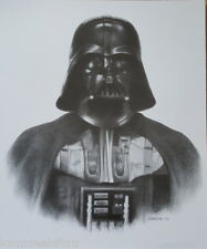Star Wars Darth Vader Black & White Pencil Print Art Drawing Signed Picture