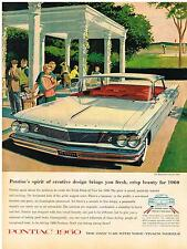 Vintage 1960 Magazine Ad Pontiac Spirit of Creative Design Brings Fresh Beauty