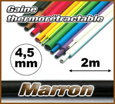 GM4.5-2# gaine thermorétractable Marron 4,5mm 2m ratio 2/1  gaine thermo