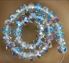 70pcs 5x8MM Multicolor Crystal Gem Loose Beads LL001
