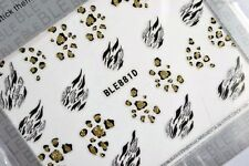 3D Design Nail Art Stickers Decals in LEOPARD ANIMAL PRINT NEW (881)