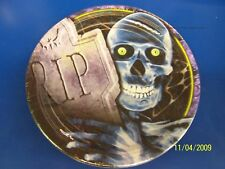 "Creepy Bones Halloween Carnival Party 9"" Dinner Plates"