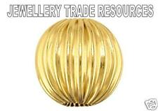 9ct YELLOW GOLD 3mm DIAMETER HOLLOW BEAD CORRUGATED SURFACE JEWELLERY MAKING