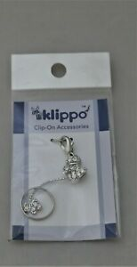 Klippo Adorable Big Dog and Hanging Puppy Dog Clear Crystal Charm NEW Westie