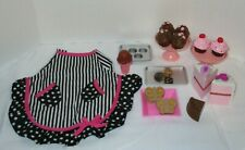 "My Life As 18"" Doll American Girl Bakery Accessories Apron Cup Cakes Cookies"