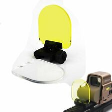 Sight Scope Protector Lens Screen Cover Shield Panel Clear Yellow W/20mm Rail