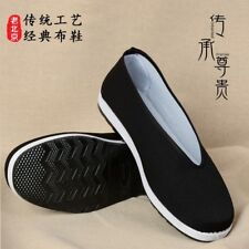 Men Tradition Chinese Espadrille Slipper Shoes Kung Fu Flat Martial Art Soft New