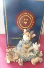 Boyds Purrstone 1999 Cat Figurine Mama Purrsmore & Baby Belle.Once Upon A Time