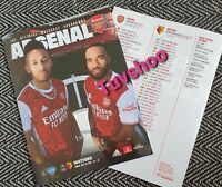 Arsenal v Watford LIMITED Programme of the season 26/7/2020! READY TO DISPATCH!
