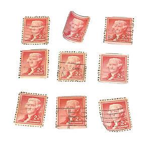 Sc # 1033 ~ Lot Of 9 2 cent Liberty Issue, SAN CARLOS CALIF. Thomas Jefferson