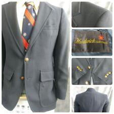 Hardwick Mens 38R Navy Blue Blazer Gold Button 70S' Sport Coat Jacket 2B 1V