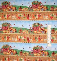 Fall Fabric - Farmers Market Harvest & Leaf Stripe - Spectrix SPX YARD