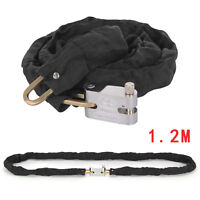 1.2M Metal Motorbike Motorcycle Security Bicycle Heavy Duty Chain Lock Padlock