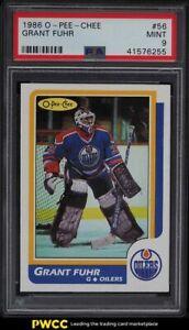 1986 O-Pee-Chee Hockey Grant Fuhr #56 PSA 9 MINT
