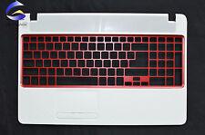 New Gateway NV52L NV56R NV52L06U White Laptop Upper Case Palmrest Cover Red