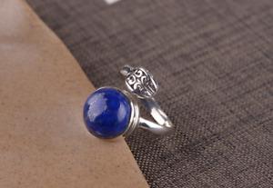 B11 Anello Con Lapis Lazuli E Silberornament Argento Sterling 925