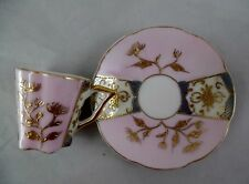 Dainty Oriental Look Lavender And Gold Cup And Saucer- No Markings