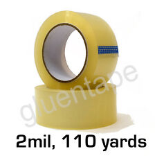 """2 mil Clear Carton Sealing Packing Tape 2"""" x 330' / 48 mm x 110 yds (36 Rolls)"""