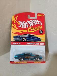 Hot Wheels Classics Series 2 Plymouth Hemi Cuda #29/30 Special Paint Blue V1