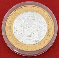 Casino Strike Golden Nugget .999 Fine Silver $10 Token Laughlin Nevada 20-2935O
