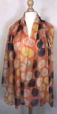 Orange Scarf Pashmina Spotted Multi Cols Soft Oversized Spots Dots Glamorous