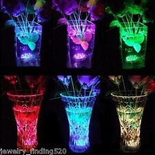 10 LED Candle Submersible Remote Multicolor Flashing Lamp Floral Vase Light