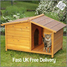 wooden outdoor dog kennel or cat home winter warm house weatherproof shelter NEW