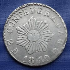 More details for cordoba, argentina 2 reales 1849, 7 pointed sun~km#27, 750 silver 6g~vf~x232