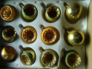 palline per albero di natale  vintage anni 60 colore oro