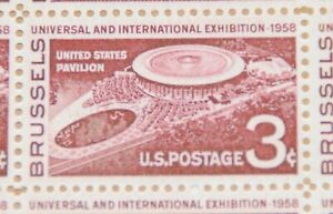 1958 sheet Brussels Exhibition Issue Sc# 1104