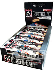 Weider 52%25 Protein Bar 24x 50g (27,67�'�/Kg) Eiwei�Ÿ Riegel Low Carb Mixed 5 Sorten