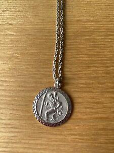 Silver St Christopher Pendant