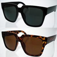 Extra Large Sunglasses Men Women Retro Eyewear Oversized Square Black