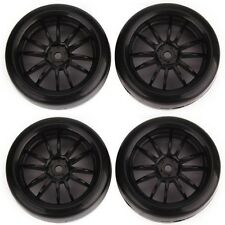 12mm Hub RC 1: 10 Racing Car Drift Wheel Rims & Smooth Tires Pack of 4